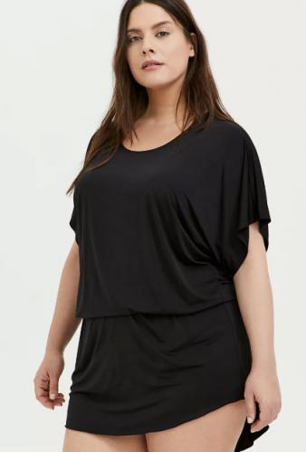 BLACK DROP WAIST TUNIC SWIM COVER UP $38.15/$54.50